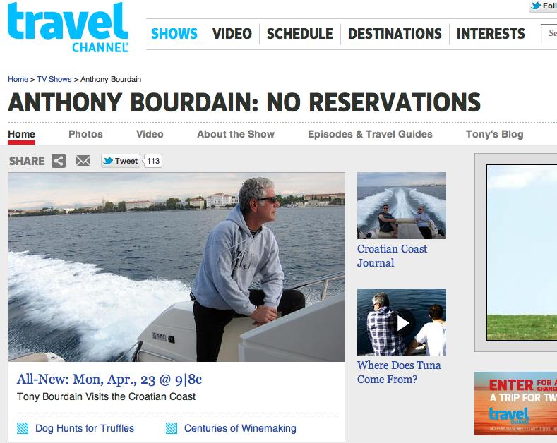 Follow the Steps of Anthony Bourdain in Croatia